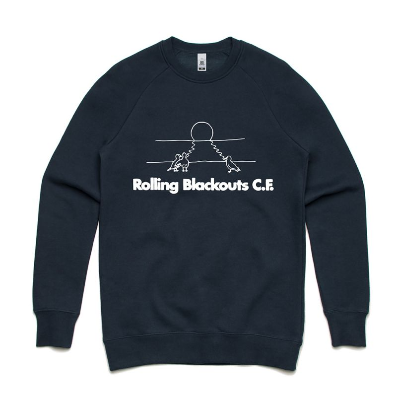Gulls On The Beach Navy Crewneck